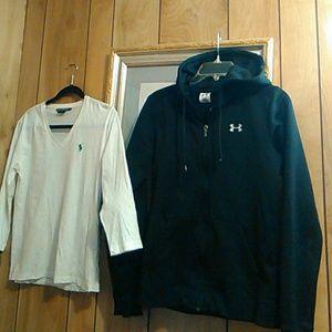 Under armour jacket & Ralph Lauren shirt